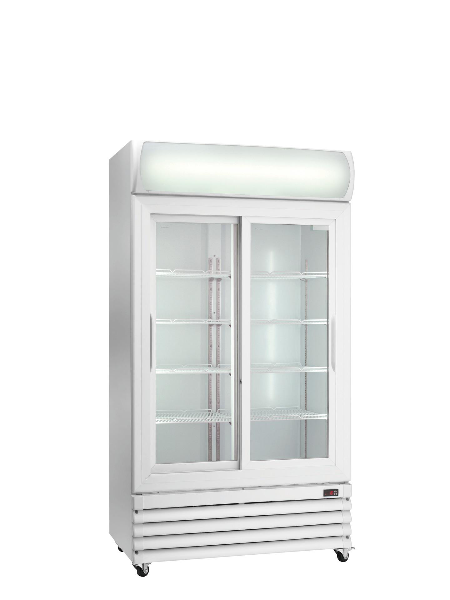 Flaschenkühlschrank Glas-Schiebetüren 670 l 1120 x 610 x 1973 mm