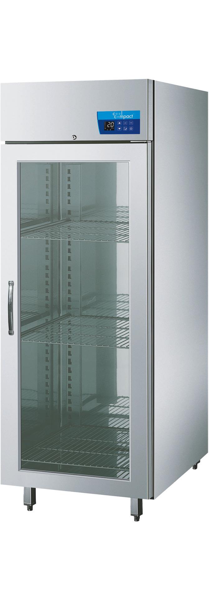 Umluft-Glastürtiefkühlschrank  21 x GN 1/1 / steckerfertig