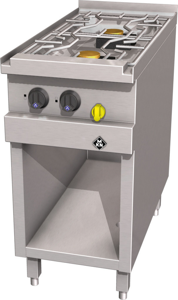 Gas-Herd 2-flammig / Optima 850 /  400 x 850 x 700 mm