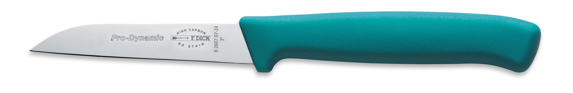 Küchenmesser Klingenlänge 70 mm türkiser Griff