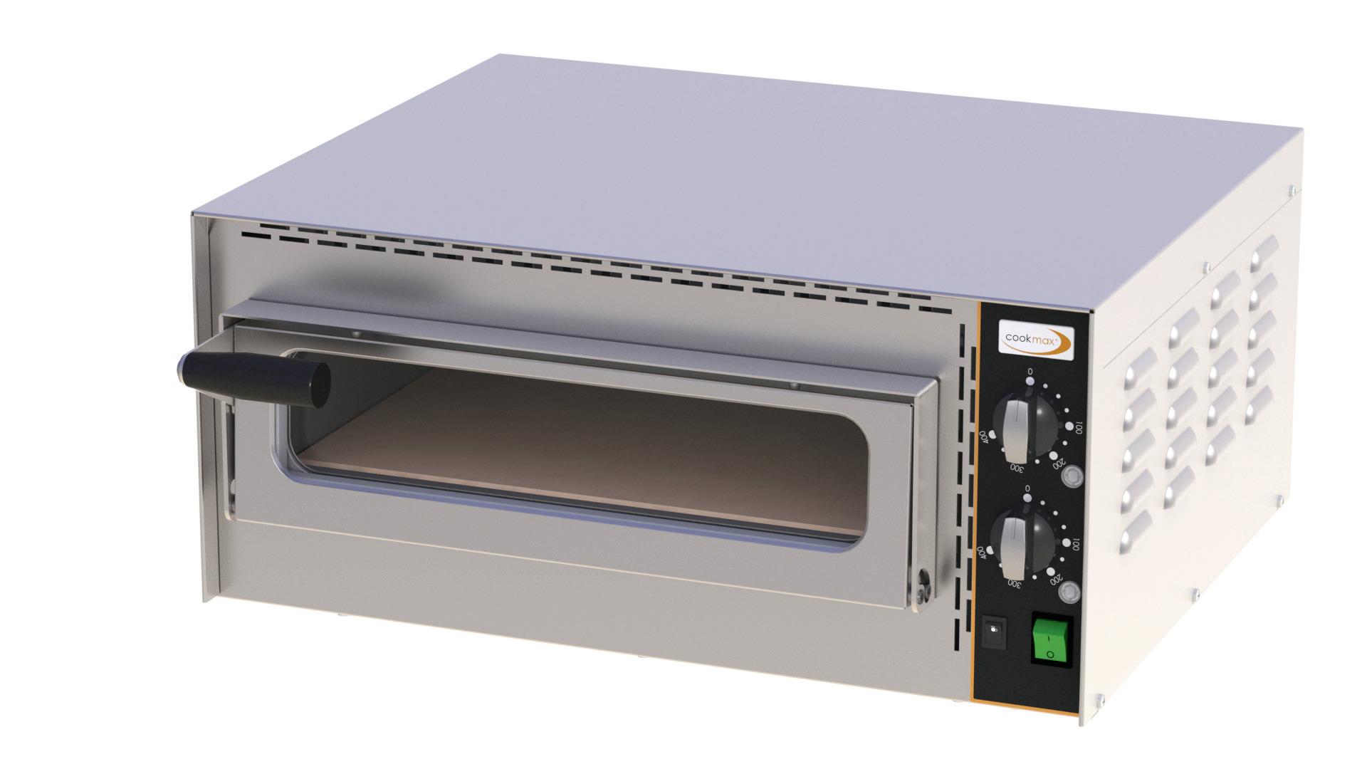 Profi Mini-Pizzaofen 1 Backkammer für 1 Pizza ø 350 mm / 570 x 470 x 250 mm
