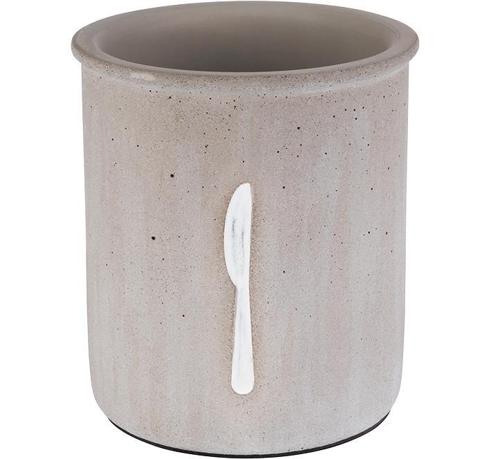 Besteckbehälter 120 mm / 140 mm hoch Beton / möbelschonende Unterseite