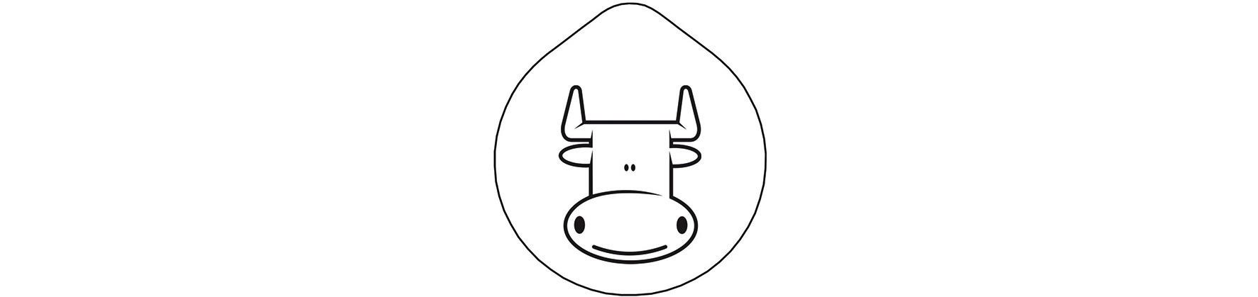 Edelstahldeckel für Karaffe Carafine / Laserung Motiv Milch