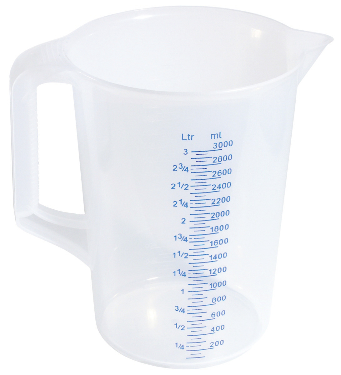 Messbecher 3,00 l milchig-transparent