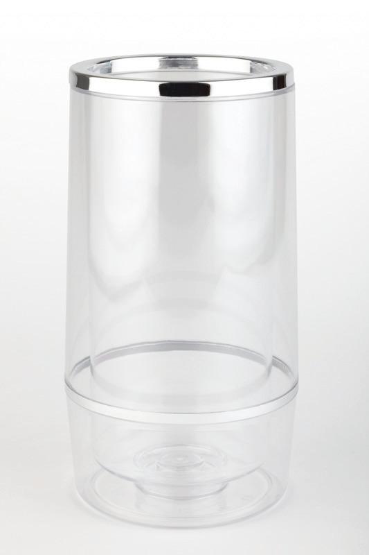 Flaschenkühler doppelwandig 120 x 120 x 230 mm transparent