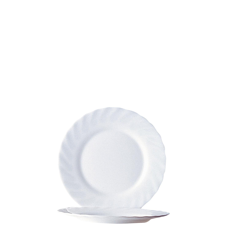 Dessertteller flach 195 mm uni weiß