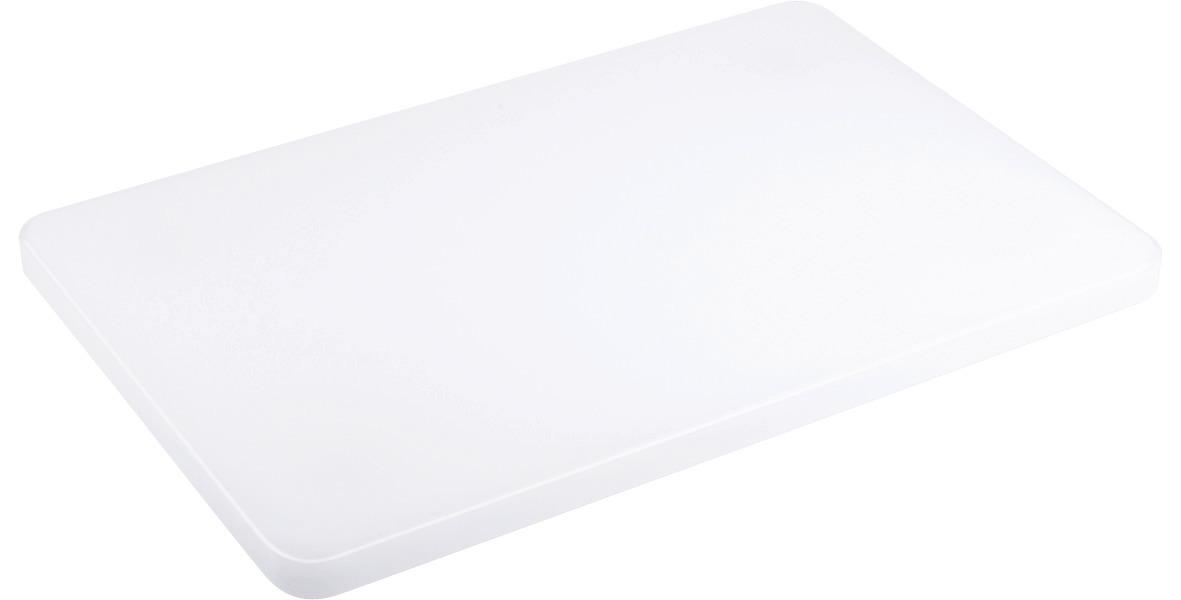 Schneidbrett 440 x 290 x 20 mit Füßchen / ohne Griffloch / weiß