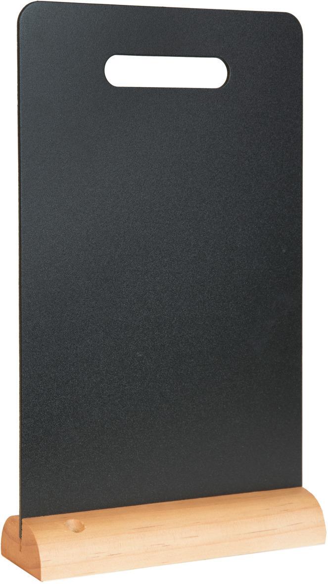 Aufsteller-Schreibtafel A4 325 x 210 mm schwarz auf Holzfuß