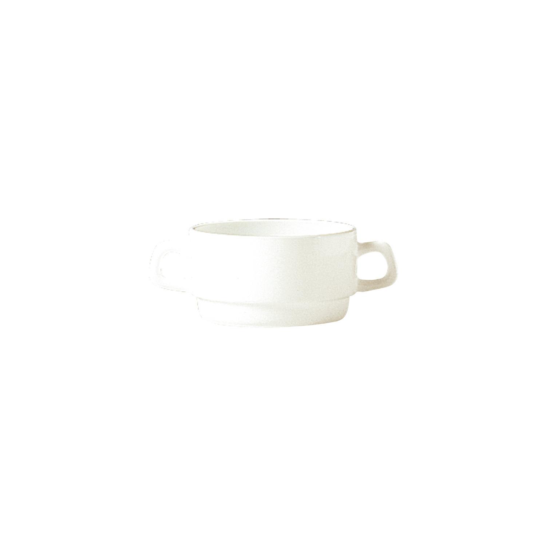 Suppentasse mit 2 Henkel stapelbar 105 mm / 0,31 l cremeweiß