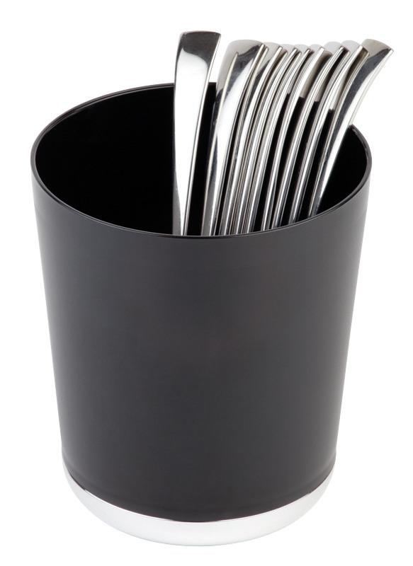 Tischreste- / Besteckbehälter 1,30 l / 130 x 130 x 150 mm schwarz