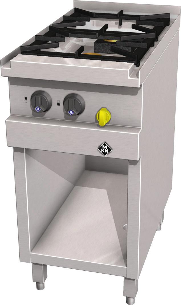 Gas-Herd 2-flammig / Optima 700 /  400 x 700 x 700 mm