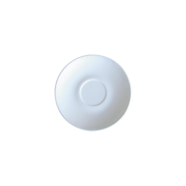 Untertasse 142 mm uni weiß passend zur Tasse 0,19 l und 0,22 l