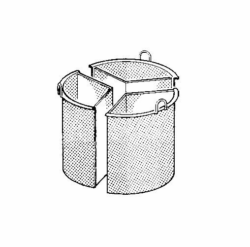 Kochkessel-Einsatz 100 l, 3-teilig