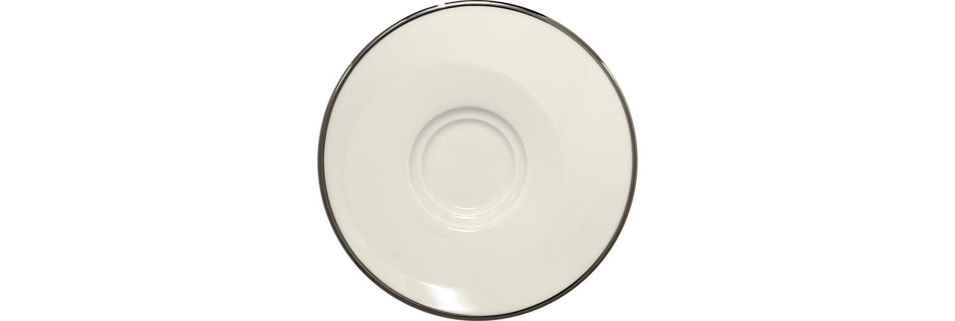 Untertasse 145 mm für GICU09PLA weiß / silber