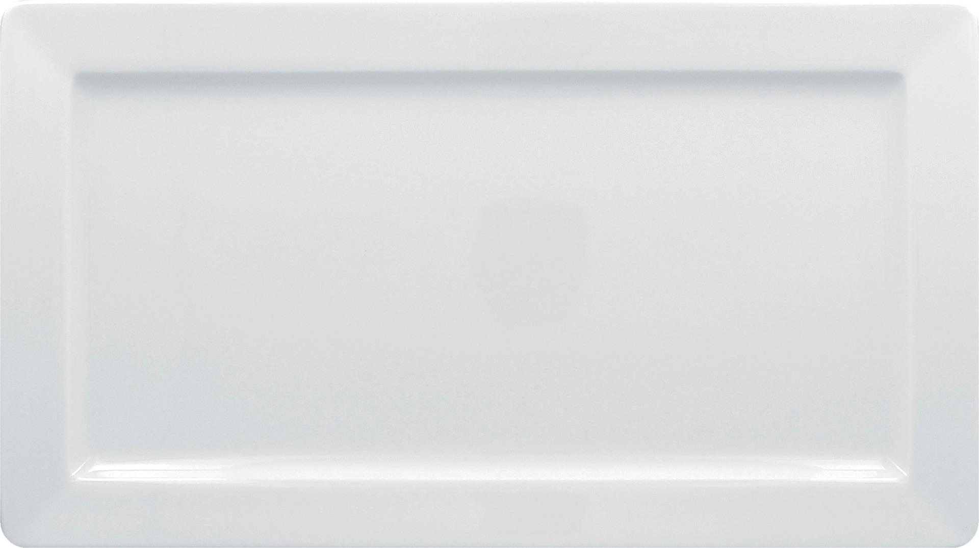 Teller rechteckig 380 x 210 mm bright-white