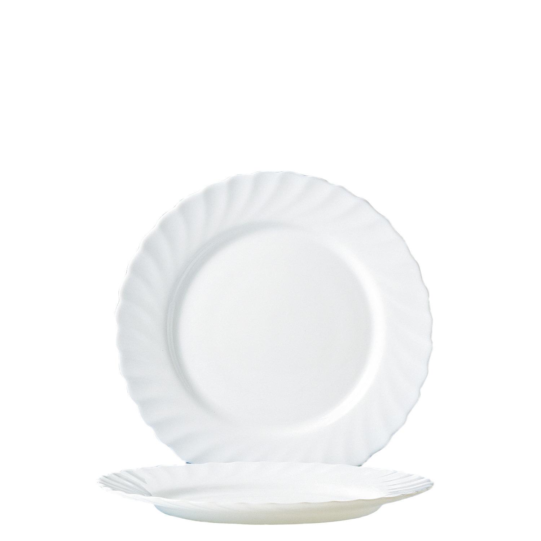 Teller flach 245 mm uni weiß