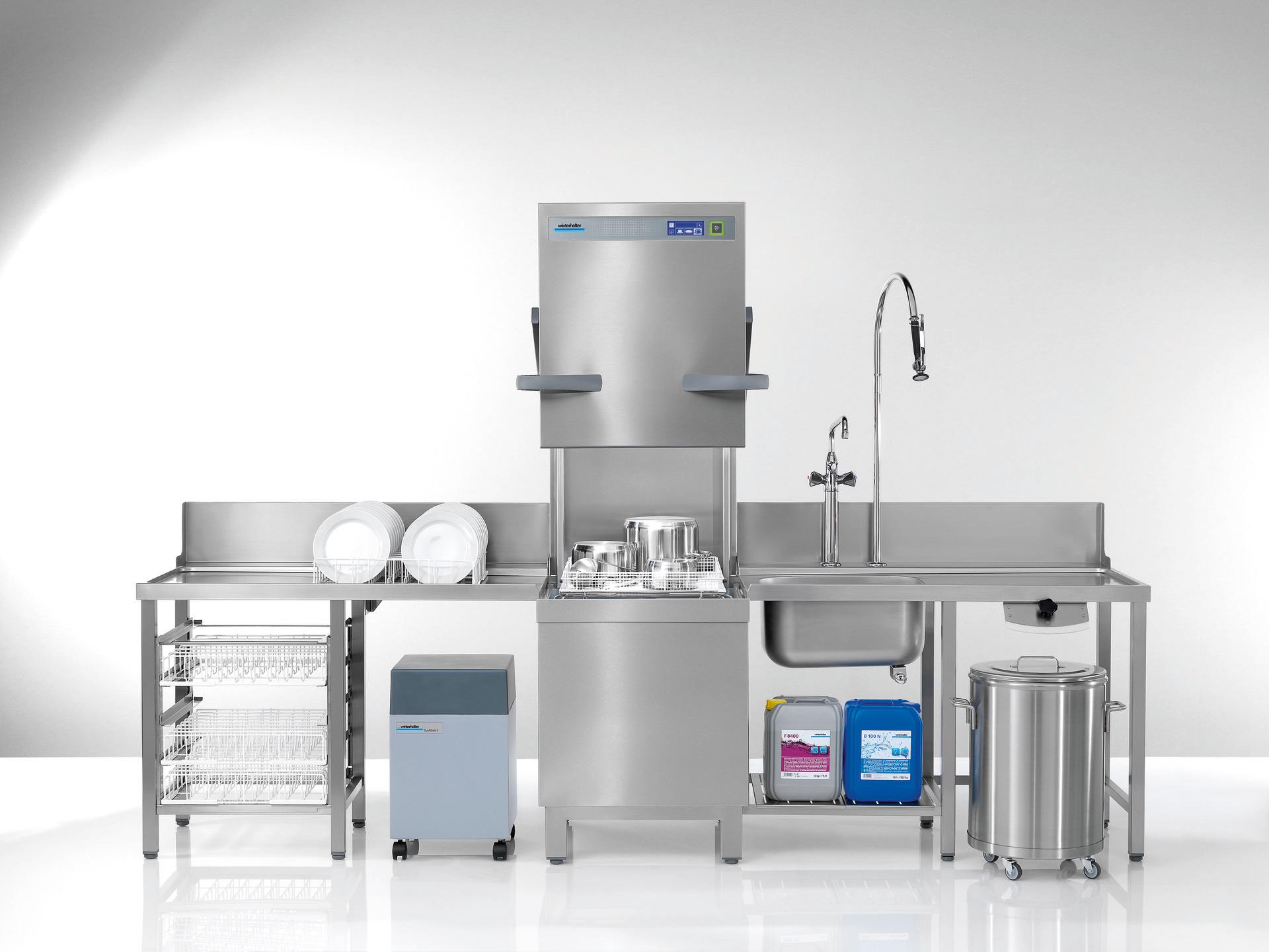 Durchschubspülmaschine PT-M / 500 x 500 mm/mit Klarspül-/und Reinigerdosiergerät