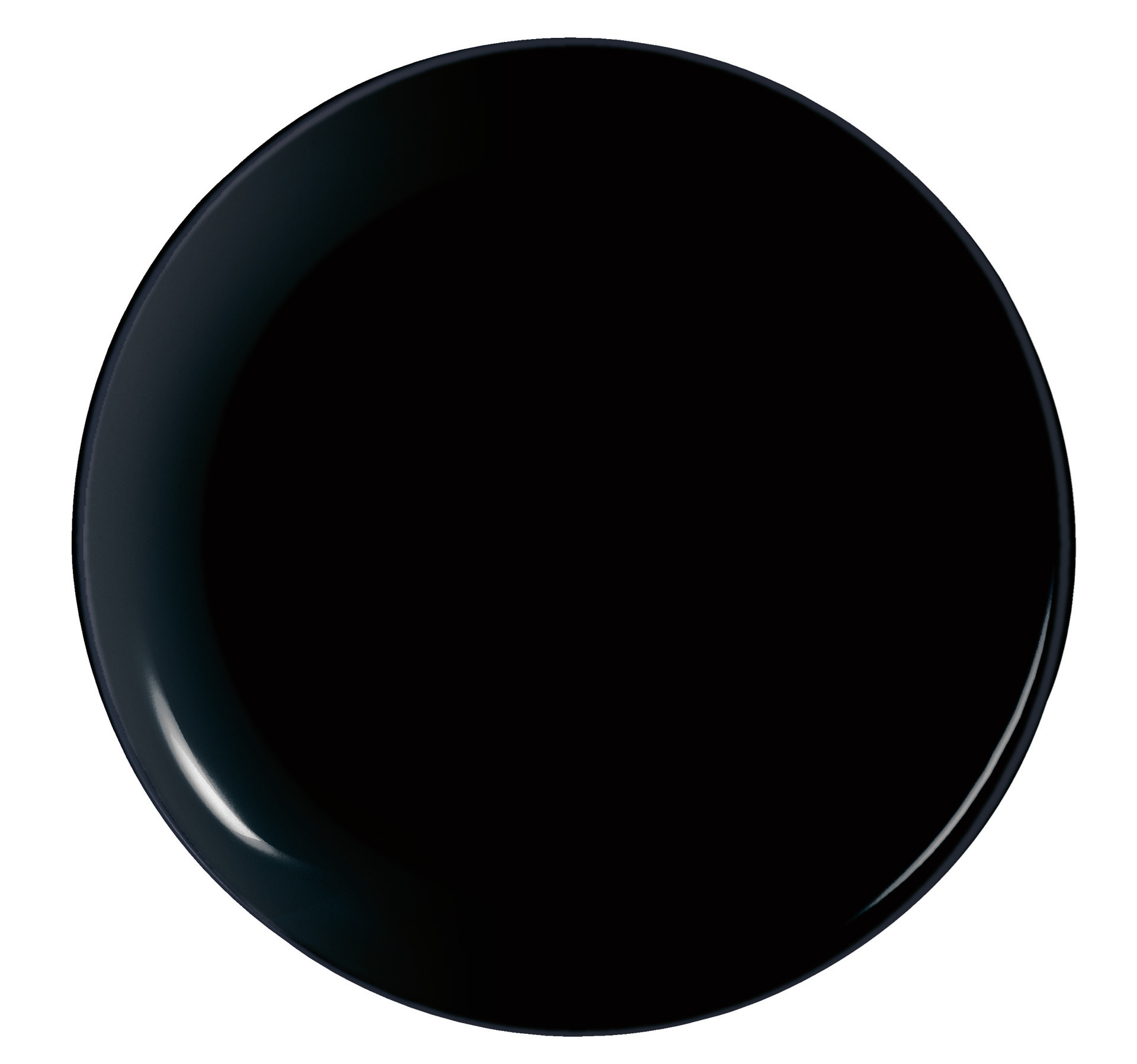 Pizzateller 320 mm uni schwarz