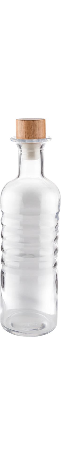 Glaskaraffe 0,80 l / 80 x 80 x 280 mm inkl. Holzkorken mit Silikondichtung