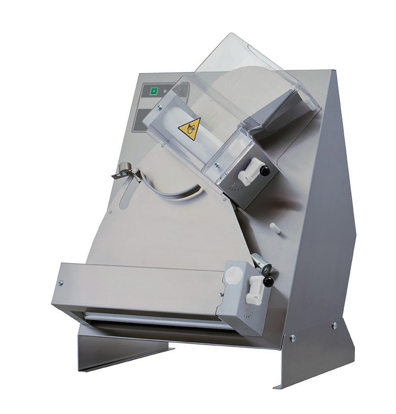 Teig-Ausrollmaschine für runde Pizzen bis ø 300 mm / 430 x 500 x 630 mm