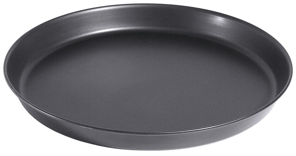 Pizzablech 390 mm Schwarzblech mit gebördeltem Rand