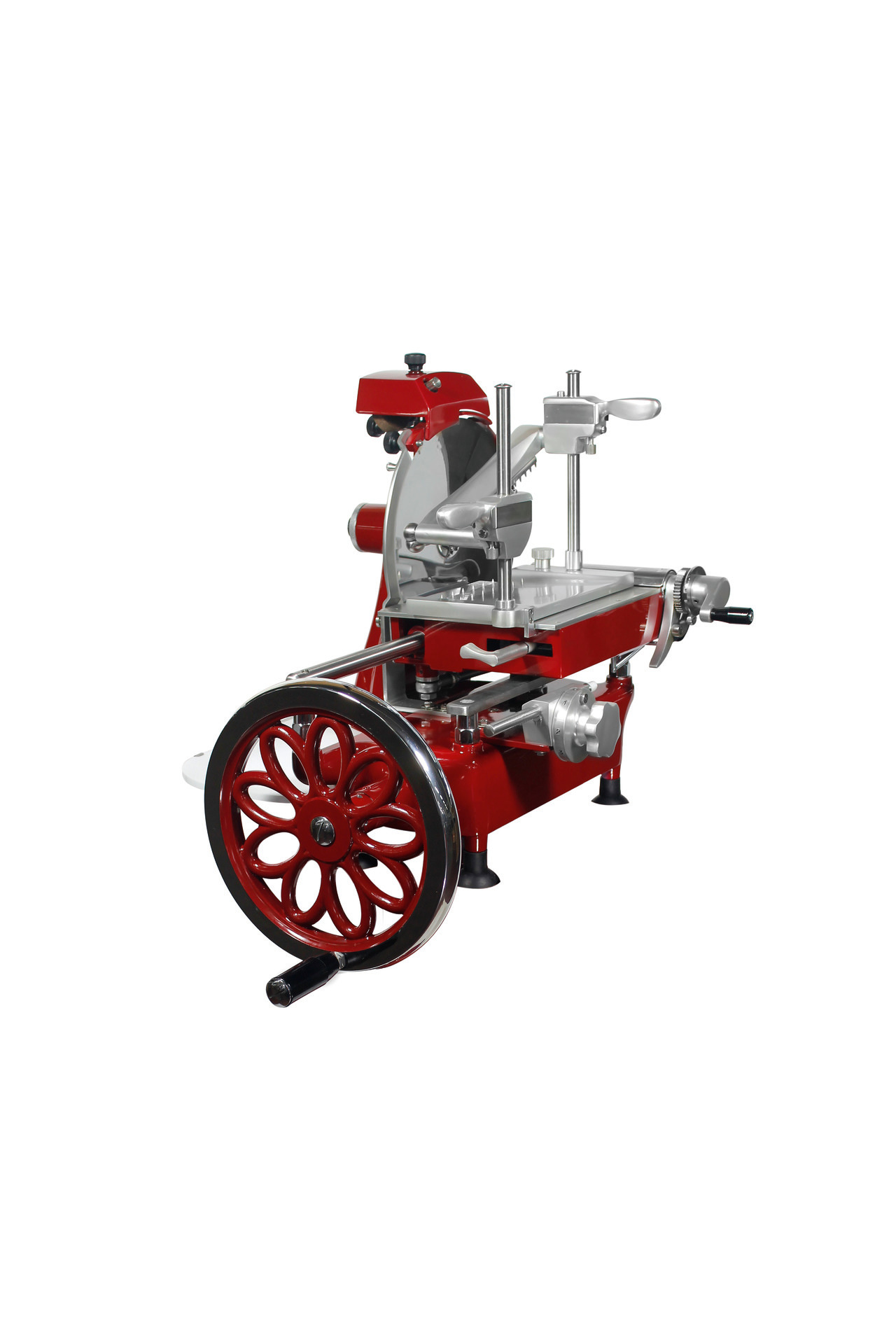 Aufschnittmaschine manuell mit Blumenrad Messer ø 250 mm 520 x 680 x 510 mm