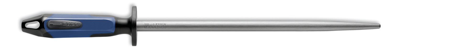 Fleischerwetzstahl rund Klingenlänge 300 mm Standardzug / blauer Griff
