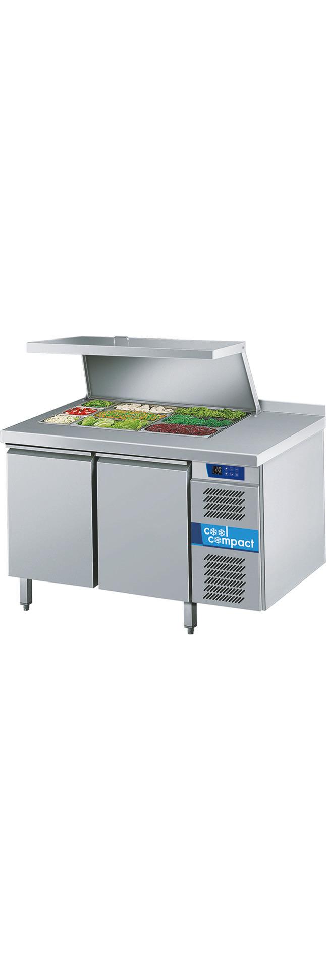 Saladette 2 Türen je 10 x GN 1/1 / ohne Tischplatte / zentralgekühlt
