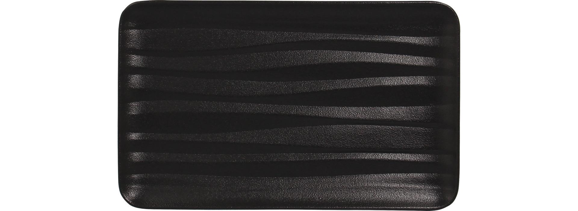GN-Platte rechteckig mit Relief shared GN 1/4 265 x 162 mm schwarz