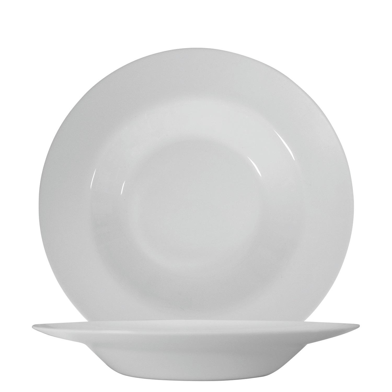 Pastateller 285 mm uni weiß