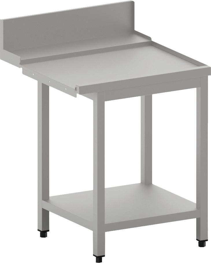 Ablauftisch rechts mit Ablagebord,  700 mm