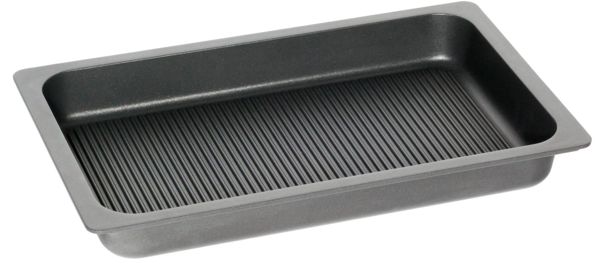 GN-Bratplatte GN 1/1 Grillboden 7,00 l / 530 x 330 x 55 mm