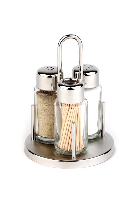Salz- / Pfeffer-Menage 105 x 160 mm mit Edelstahldeckel