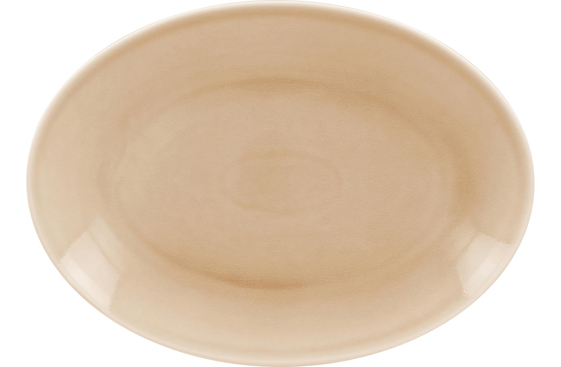 Platte oval 320 x 230 mm beige