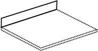 Spritzschutz für Wokherde und Nudelkocher Breite 550 mm
