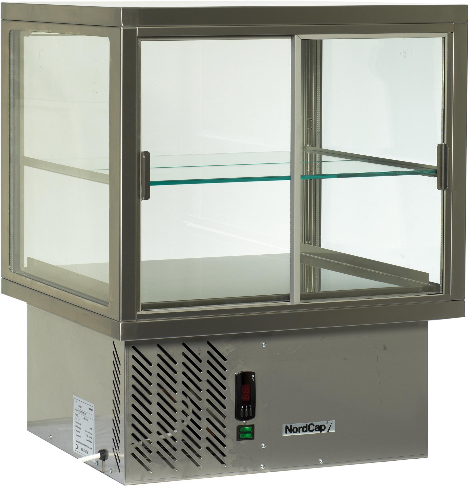 Aufsatzkühlvitrine mit 2 SB-Klappen /  Nettoinhalt 141,00 l / steckerfertig