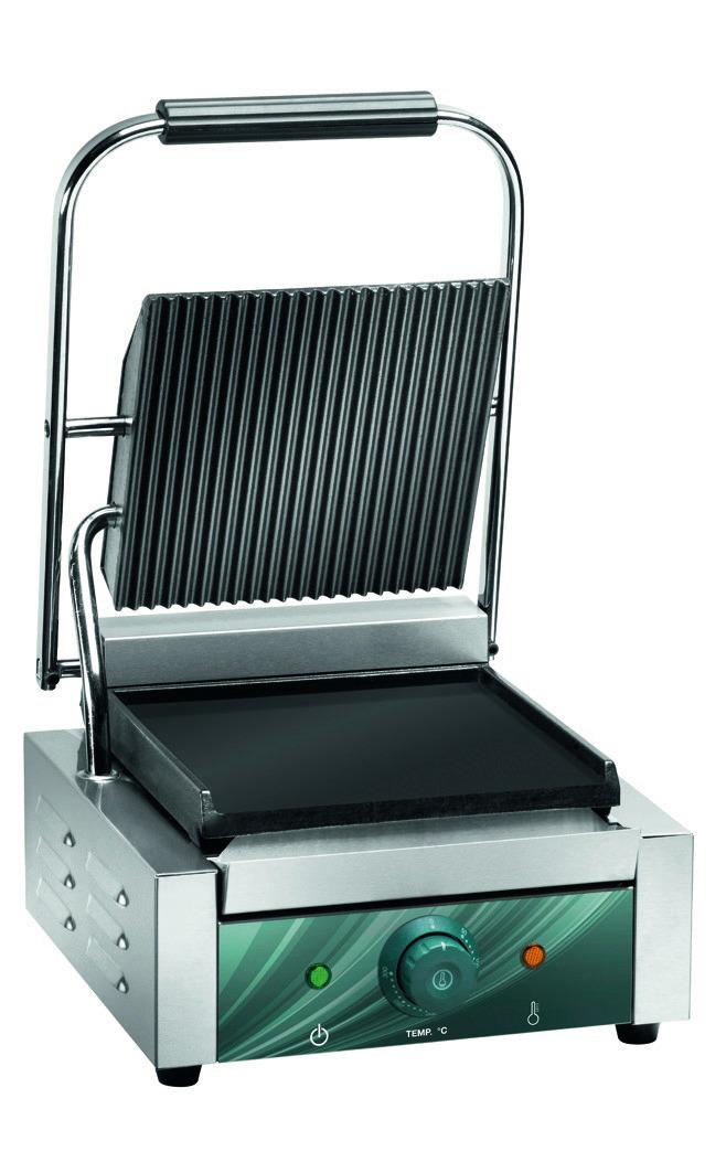 Elektro-Kontaktgrill oben gerillt unten glatt 310 x 305 x 210 mm
