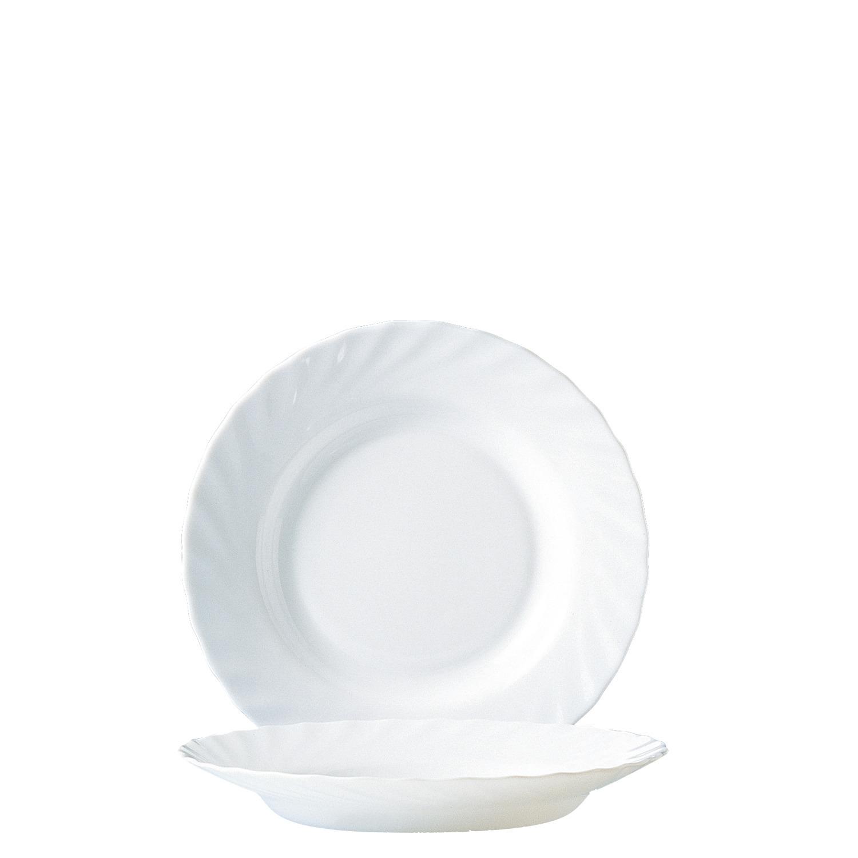 Teller tief 225 mm uni weiß