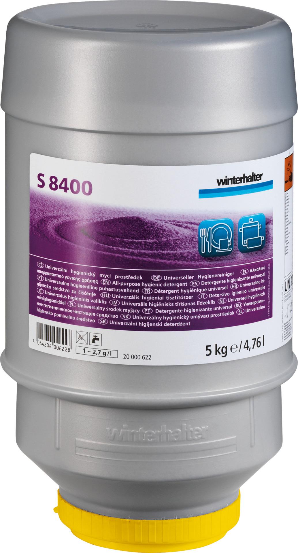 Hygiene-Universalreiniger S 8400 / 10,00 kg Karton je 2 Kartuschen