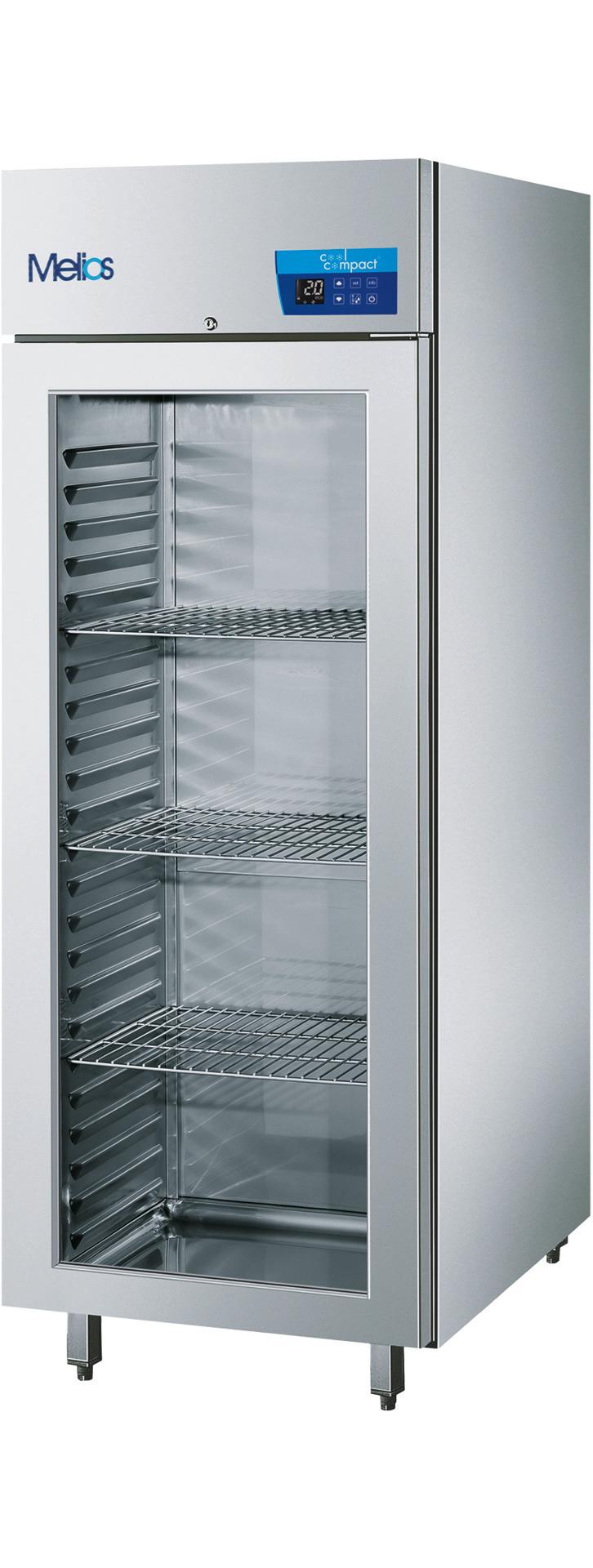 Umluft-Glastürtiefkühlschrank  23 x GN 2/1 / zentralgekühlt