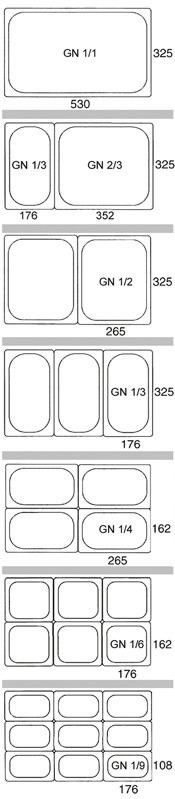 GN-Behälter GN 1/1 / 325 x 530 x 100 mm  / Edelstahl