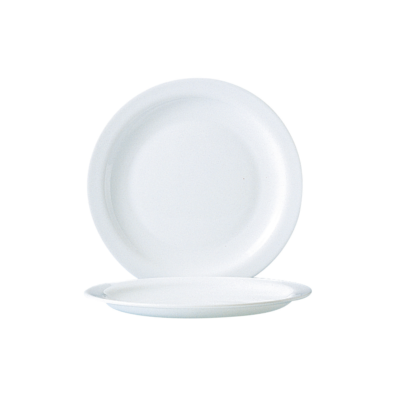 Dessertteller 190 mm uni weiß