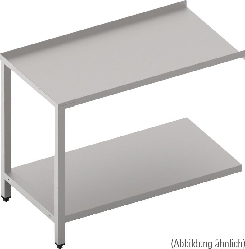 Ablauftisch mit Ablagebord 700 mm breit