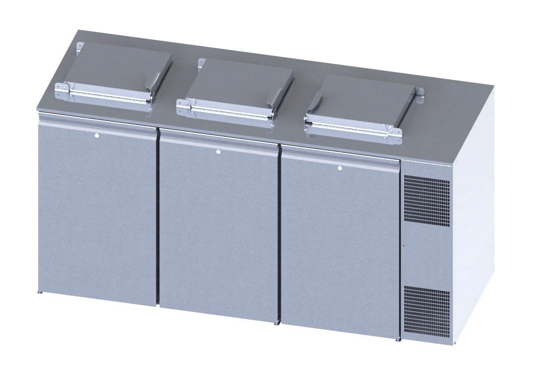Konfiskatkühler für 3 x 120 oder 240 l Abfallkühler mit Winterheizung