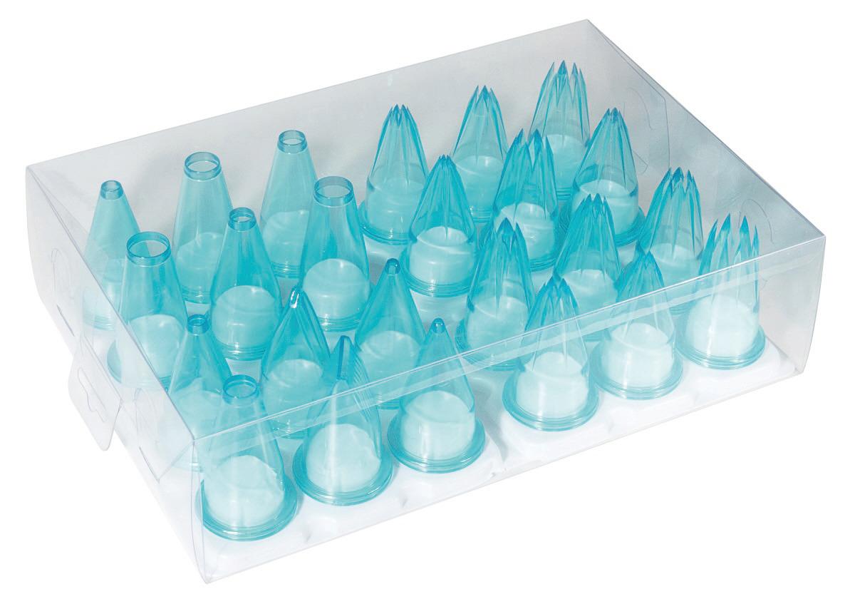 Spritztüllensatz 24 verschiedene Tüllen 55 mm
