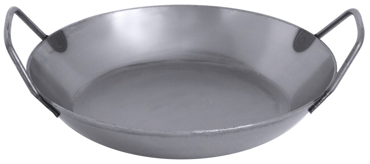 Paella-Eisenpfanne 240 mm Stahl ungeschwärzt