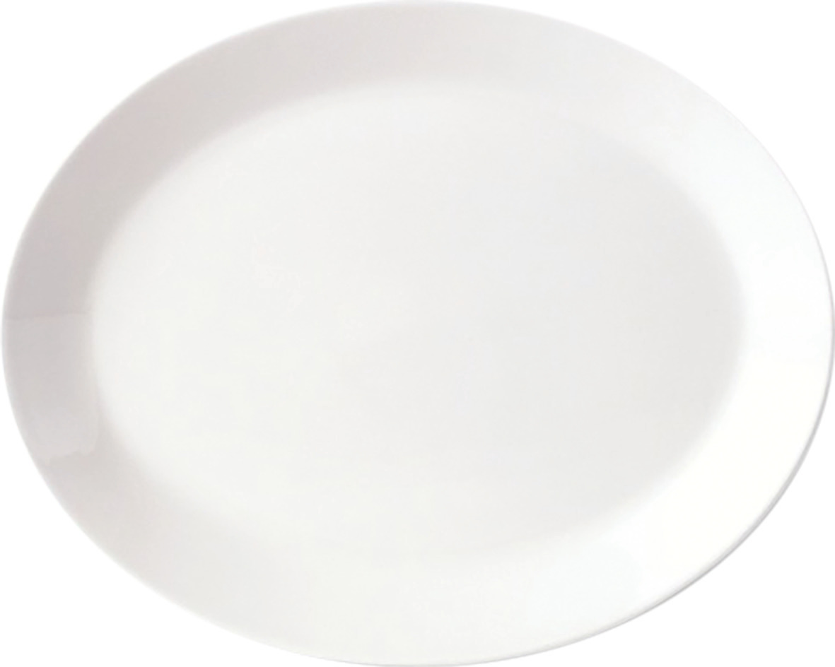Platte oval 395 mm weiß