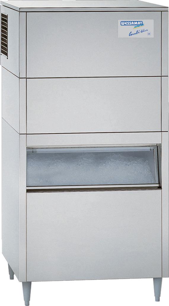 Eiswürfelbereiter W 120 CW / 126,00 kg/ 24 h/ 130,00 kg Vorrat / Wasserkühlung