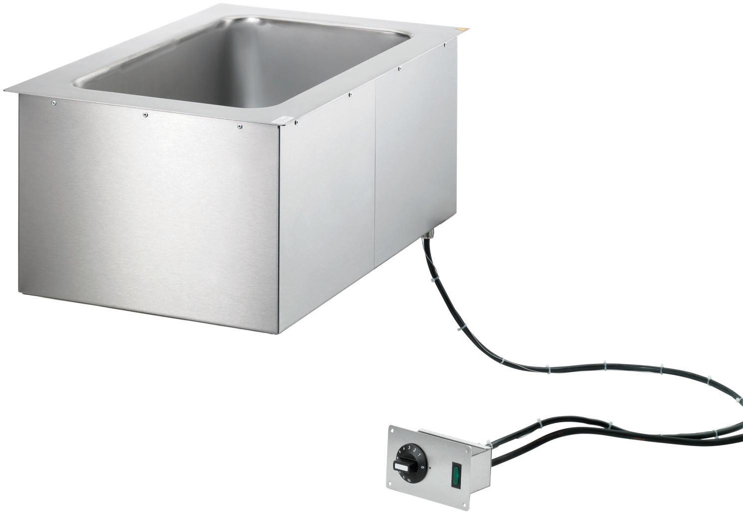 Elektro-Bain Marie Einbaugerät 2 x GN  1/1 - 200 mm tief / manuelle Befüllung