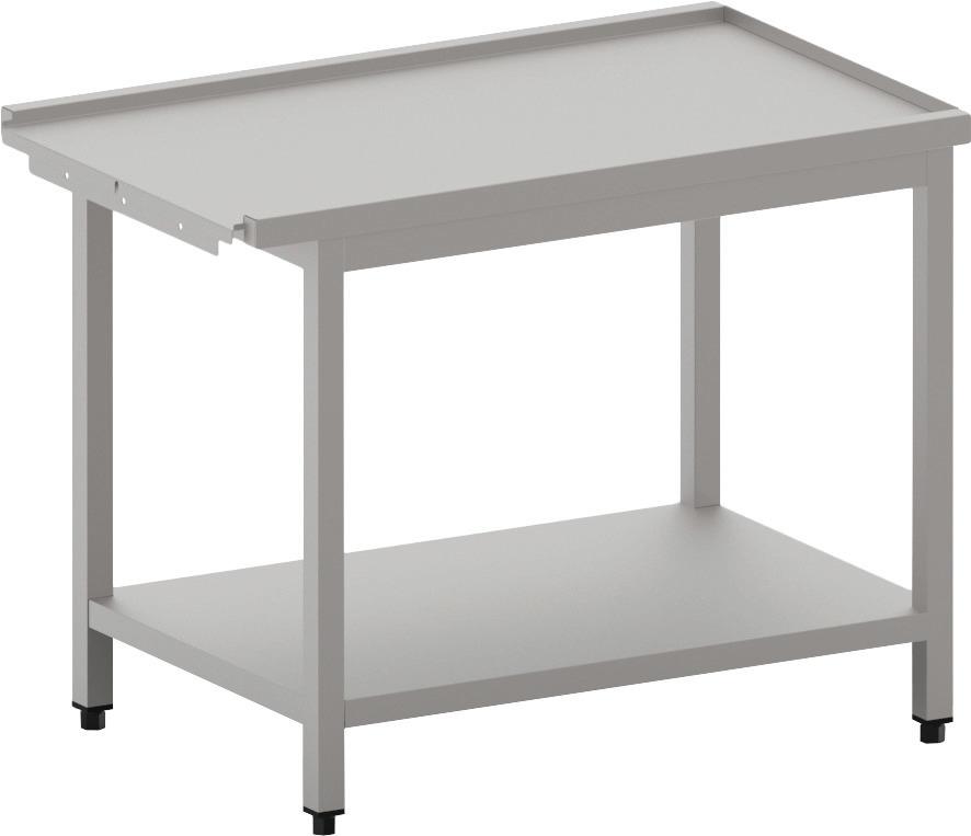 Ablauftisch links/rechts mit Ablagebord ohne Aufkantung, 1100 mm
